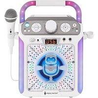 The Singing Machine Sml682Btw Bluetooth Cdg + Tablet Karaoke Machine - White