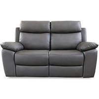 Product photograph showing Edison 2-seater Luxury Faux Leather Manual Recliner Sofa
