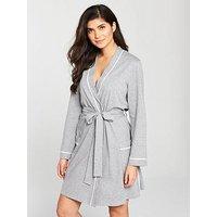 V by Very Everyday Essentials Robe - Grey, Grey, Size 10-12, Women