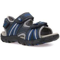 Geox Boys Strada Sandal, Navy, Size 11 Younger
