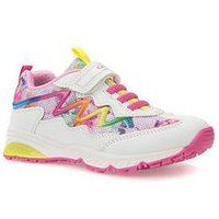Geox Girls Bernie Trainer, White, Size 4 Older