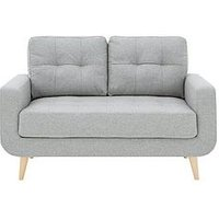 Product photograph showing Skandi 2 Seater Fabric Sofa