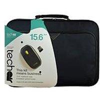 Tech Air 15.6 Black Laptop Case + Black/Yellow Wireless Mouse