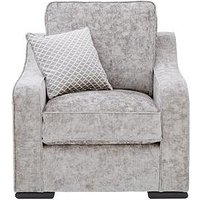 Product photograph showing Michelle Keegan Home Mirage Fabric Armchair