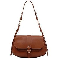Radley Radley Trinity Square Tan Medium Flap Over Shoulder Bag, Tan, Women