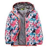 Regatta Regatta Girls Printed Lever Waterproof Jacket, Multi, Size 13-14 Years, Women
