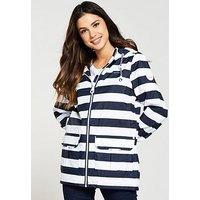 Regatta Bayeur II Waterproof Jacket, Navy Stripe, Size 18, Women