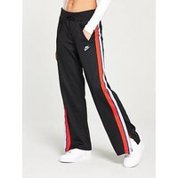 Nike Sportswear Taping Open Hem Pants, Black, Size Xs, Women