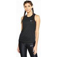 Nike Running Dry Miler Tank - Black , Black, Size Xl, Women