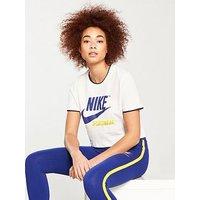 Nike Sportswear Archive Rib Crop Top, Cream, Size L, Women