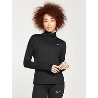 Nike Running Element Half Zip Top - Black , Black, Size L, Women
