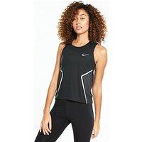Nike Running Dry Miler Tank - Black , Black, Size S, Women