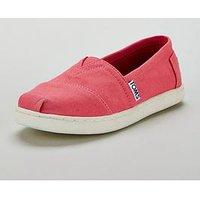 Toms Alpargata Canvas Shoe, Pink, Size 3 Older