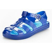 Mini V by Very Aiden Boys Jelly Sandal, Blue, Size 10 Younger
