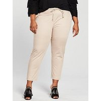 V by Very Curve Casual Chino Trouser - Stone, Stone, Size 30, Women