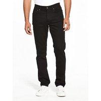 Lyle & Scott Lyle & Scott Slim Fit Jeans, True Black, Size 30, Length Regular, Men