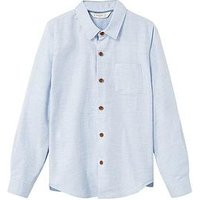 Mango Boys Chambray Shirt, Sky Blue, Size 7-8 Years