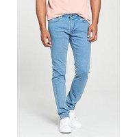 Lee Jeans Malone Skinny Fit Jeans, Rollin Blue, Size 32, Length Regular, Men