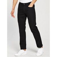 Lee Jeans Daren Regular Slim Fit Jeans, Black Rinse, Size 32, Length Long, Men