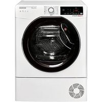 Hoover Dynamic Next Dxwh10A2Tke 10Kg Load, Aquavision, Heat Pump Tumble Dryer With One Fi Extra - White/Black &Amp; Tinted Door