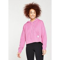 Converse Essentials Cropped Pullover Hoodie - Pink , Pink, Size Xl, Women