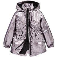 V by Very Girls Metallic Raincoat, Multi, Size Age: 8 Years, Women