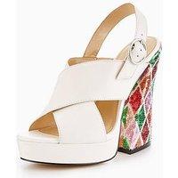 Katy Perry The Margie Platform Sandal, Ivory, Size 7, Women