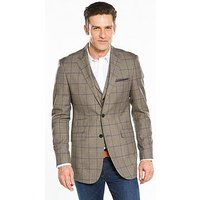 Skopes Bevington Check Blazer - Brown , Brown, Size 40, Length Regular, Men