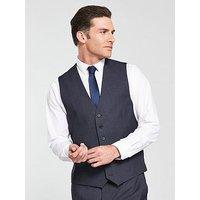 Skopes Kelham Tweed Waistcoat, Blue, Size 48, Men