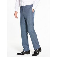 Skopes Lancelot Wool Trouser, Ice Blue, Size 34, Inside Leg Regular, Men
