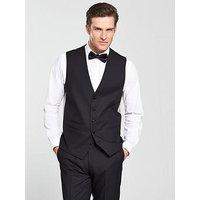 Skopes Newman Tuxedo Waistcoat, Black, Size 44, Men