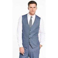 Skopes Lancelot Wool Waistcoat - Ice Blue , Ice Blue, Size 40, Men