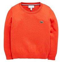 Boys, Lacoste Classic Crew Neck Sweater, Watermelon, Size Age: 5 Years