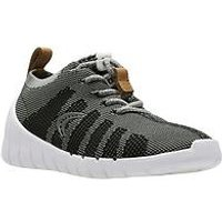 Clarks Sprint Aero Boys Trainers - Grey, Grey, Size 11.5 Younger