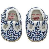 Cath Kidston Baby T Bar Pram Shoe, Sapphire, Size 3-6