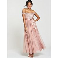 V By Very Embellished Bridesmaid Maxi Dress - Dusty Rose