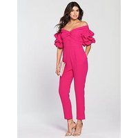 V By Very Bardot Sleeve Detail Jumpsuit
