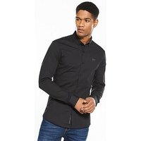 11 Degrees 11degrees Long Sleeve Shirt, Black, Size M, Men