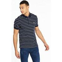 Lacoste Sportswear Striped Polo, Navy/White-Green, Size 4, Men