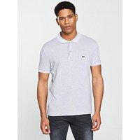 Lacoste Sportswear Tipped Polo, Silver/White, Size 5, Men