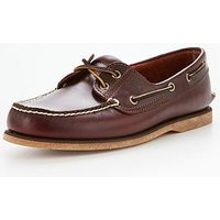 Timberland Classic 2 Eyelet Boat Shoe, Rootbeer, Size 8, Men