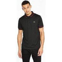 Lacoste Sport Tipped Polo, Black/Red, Size 6, Men