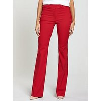 V by Very Flare Trouser - Red, Red, Size 14, Women