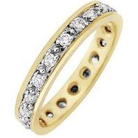 Love DIAMOND 9ct Gold 50 Points Diamond Full Eternity Ring, One Colour, Size J, Women