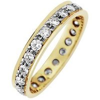 Love DIAMOND 9ct Gold 1 Carat Diamond Eternity Ring, One Colour, Size J, Women