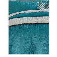 Peacock Blue Hotel Elysian 100% Cotton Duvet Cover