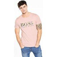 Boss Orange Large Logo Crew T-Shirt, Light Pink, Size Xl, Men