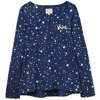Joules Girls Star Slub Jersey Top, Star, Size Age: 7-8 Years, Women