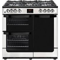 New World Vision 90Dft Dual Fuel 90Cm Wide Range Cooker - Stainless Steel