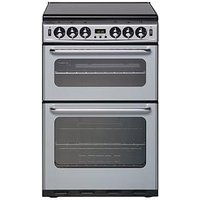 New World 550Tsidom 55Cm Wide Double Oven Gas Cooker - Silver